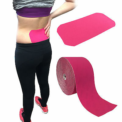 Original Rocktape Rock Kinesiology Athletic Sport Muscle Support Tape Pink 10Cm