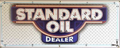 Standard Oil Dealer Gas Station Neon Style Banner Garage Art Sign Mural 2' X 5'