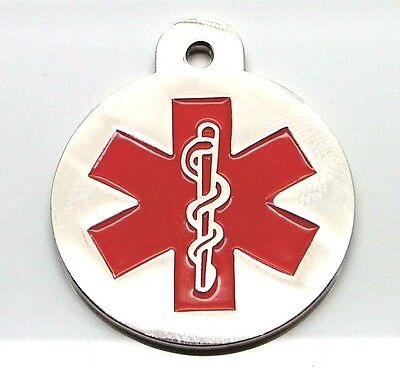 Large Medical Alert Disc id tags