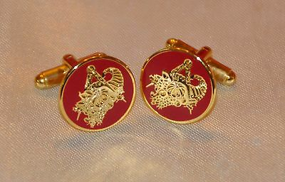 Masonic Provincial District or Grand Stewards Gold Plated Cufflinks (CF033)