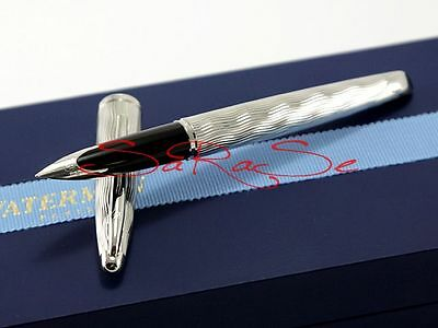 Waterman Carene Essential Silver Füller Fountain Pen Palladium 18Kt. Edson Feder