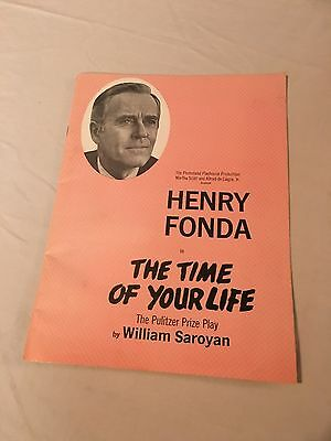 Rare Vintage Plumstead Playhouse Henry Fonda In The Time Of Your Life