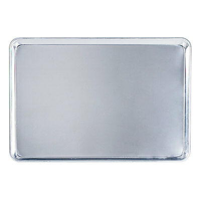 "Full Size 18"" x 26"" Aluminum Bun Pan / Sheet Pan - Wire in Rim"
