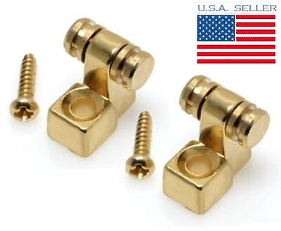 Set of 2 Gold Roller String Trees for Fender Stratocaster Project NEW