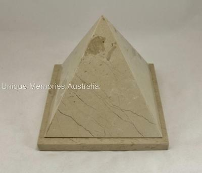 Genuine Solid Marble Egyptian Pyramid Design Adult Cremation Funeral Ashes Urn