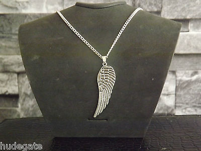 10 Silver Plated Necklaces with Large Angel Wing Pendants Wholesale Jewellery