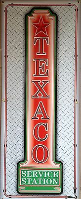 Texaco Gas Service Station Dealer Neon Style Banner Sign Garage Art 2' X 5'