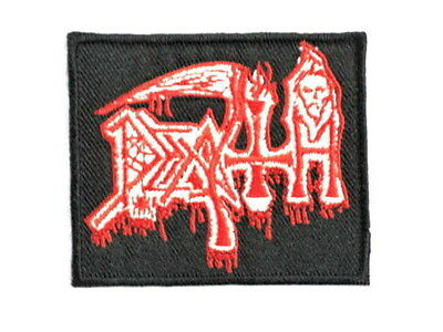 DEATH Blood Drip Iron On Sew On Heavy Metal Jacket Patch 2.9/""