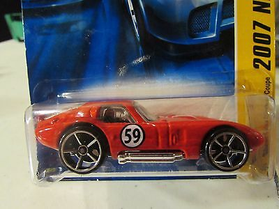 Hot Wheels Shelby Cobra Daytona Coupe 2007 New Models Red