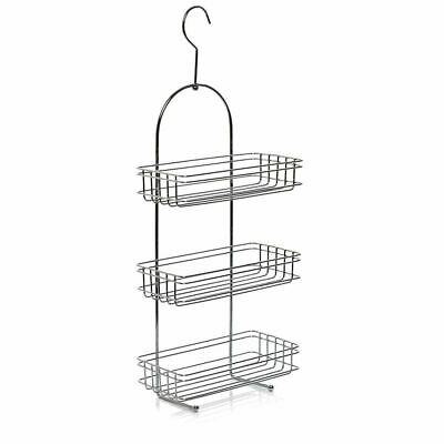 Large 3 Tier Chrome Hanging Shower Caddy Storage Tidy Basket Organiser Rack