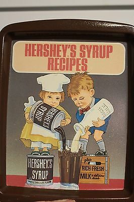 Vintage Collectible Hershey's Syrup Recipes Metal Tray 1982 England Collector