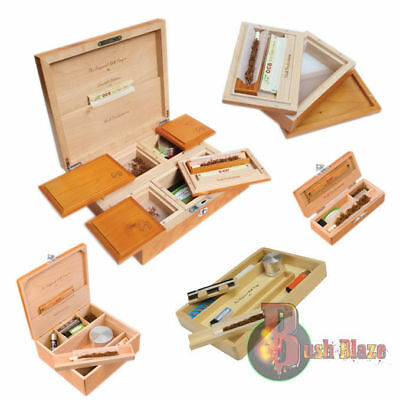 Wolf Productions Smoking Stash - Rolling Box - Real Wood  Deluxe with Rolling V