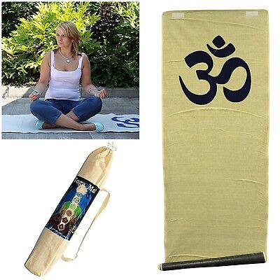 Natural Jute Yoga Mat - Non-Slip Ashtanga Power Om Eco