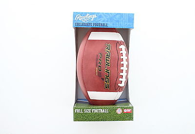 Rawlings PRO5P-R Official Licensed Leather Collegiate Full Size NFHS Football