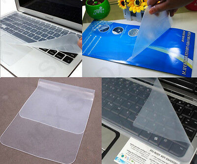 "2x New Universal Silicone Laptop Keyboard Cover Skin Protector for 15"" to 17"" UK"