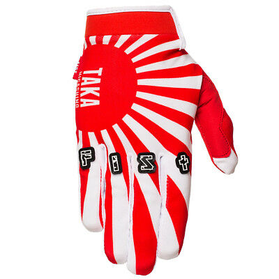 Fist Handwear NEW Mx Gear TAKA Rising Motocross Red White Signature FMX Gloves