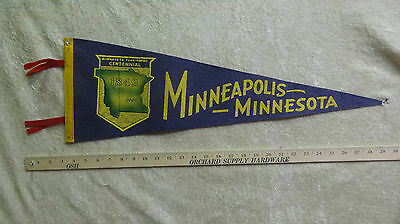 Old Vintage 1949 Minneapolis Minnesota Territorial Centennial Pennant Mn