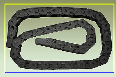 2pcs Cable drag chain wire carrier 18*25*R28-1500mm