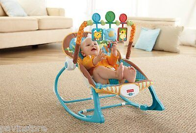 Fisher Price Infant To Toddler Rocker Comfort Bouncer Vibrating Baby Cradle Seat