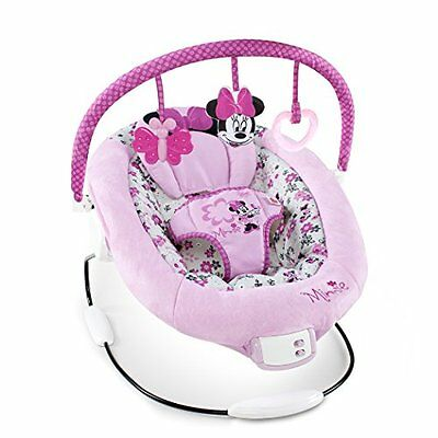 Disney Minnie Mouse Garden Delights Baby Bouncer Infant Girl Basket Seat Pink