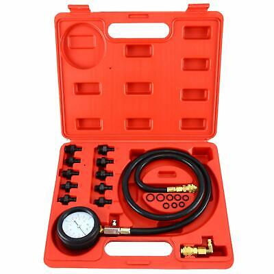 Engine Oil Pressure Test Kit Tester Car Garage Tool Low Oil Warning Devices