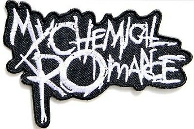 MY CHEMICAL ROMANCE Logo Embroidered Iron On Sew On Shirt Hat Bag Patch Badge