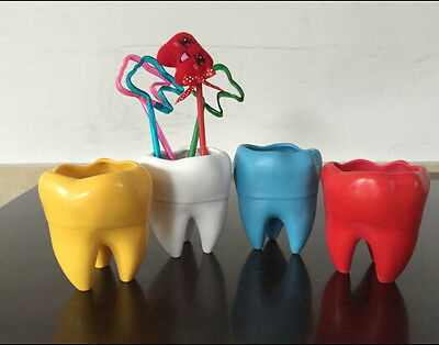 New Tooth Shape Pen/Pencil Container for Decorate Dental Lab, Office and School