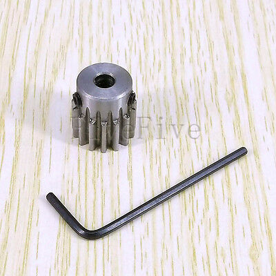 5/6/6.35/7/8mm Bore Hole 15T Width 10 Module 1 Motor Metal Spur Gear + Screws