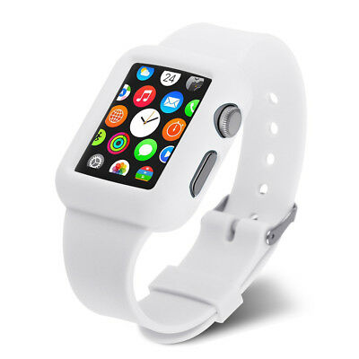 Correa Funda Gel Silicona Blanca Band Reloj Apple Watch 42 Mm Edition Sport