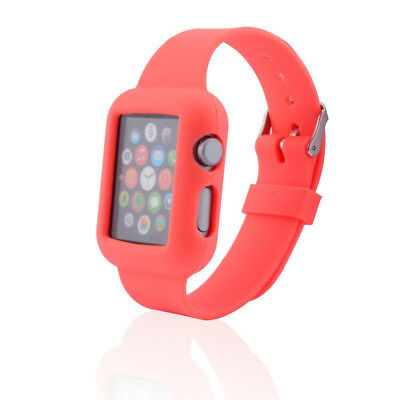 Correa Funda Gel Silicona Roja Band Reloj Apple Watch 38 Mm. Edition Sport