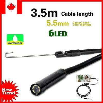 3.5M Waterproof Android Endoscope Borescope Snake Inspection Video Camera Φ5.5mm