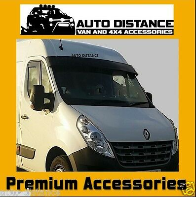 RENAULT Master Sun Visor Solid Black Acrylic  FACE LIFT MODEL ONLY 2010-2018
