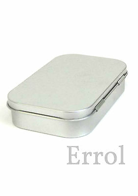 "Empty Tin Hinged Lid Altoid Size  3¾"" x 2⅜"" x ⅞"" (96mm x 60mm x 21mm) UK SELLER"