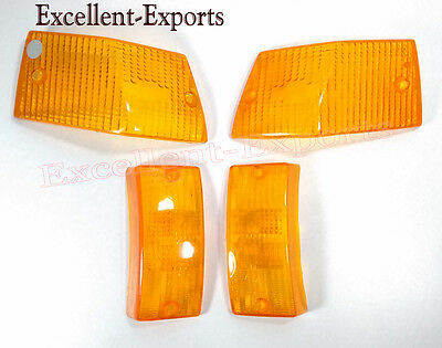 Vespa PX LML Stella Front And Rear Blinker Indicator Lens Orange Brand New P1778