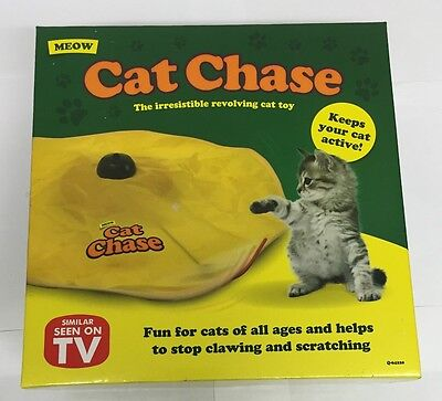Brand New Cat's Chase Undercover Yellow Skirt Motorised Moving Wand Mouse Toy