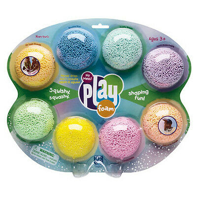 PlayFoam 8 Pack Classic & Sparkle, Kids Play Foam is mess free & never dries out