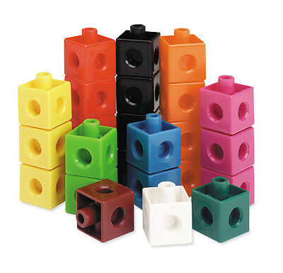 Learning Resources - 100 Piece 2cm plastic connecting Snap Cubes - fits unifix
