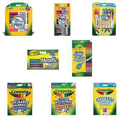 Crayola Markers Washable Bright Colouring Pens School Stationery Felt Tips Kids
