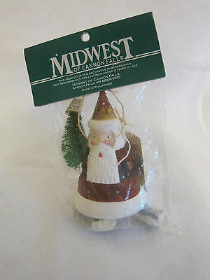 Midwest of Cannon Falls Santa Christmas Ornament New