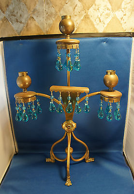Aesthetic Movement Japanesque Modern Gothic Brass Candelabra Christopher Dresser