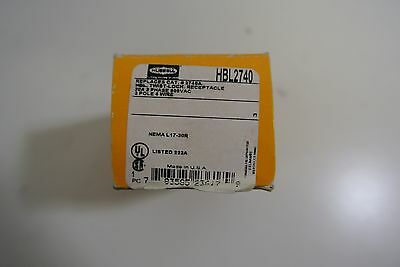 New in Box Hubbell HBL2740 Twist Lock Receptacle 30A 3 Phase 600VAC 3 Pole 4Wire