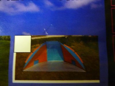 Beach Camping Sports Fishing Sun Wind Festival Shelter Tent - Blue & Orange