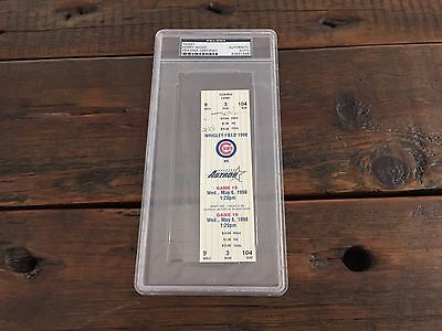 Kerry Wood 20K Game Ticket PSA DNA Auto Chicago Cubs
