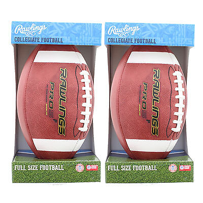 Lot of 2 Rawlings PRO5PR Official Licensed Leather Collegiate Full NFHS Football