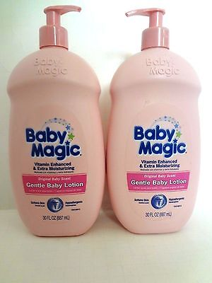 2 Baby Magic Gentle Baby Lotion, Original Scent, 30 Fluid Ounce