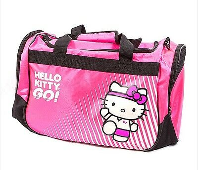 Hello Kitty Hot Pink Gym Travel Luggage Duffle Lightweight Bag