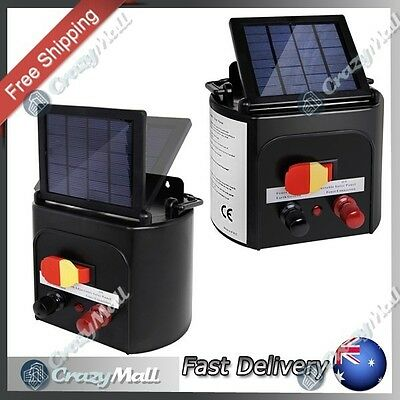 3km Solar Power Farm Electric Fence Energiser Charger Goat Horse