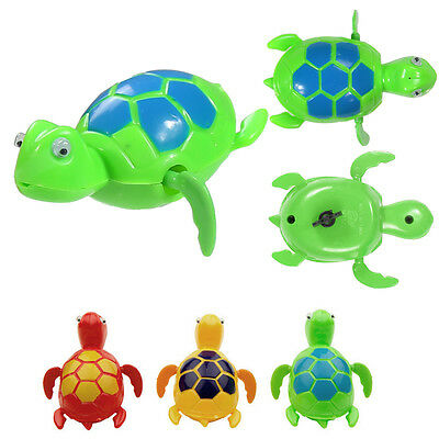 1 Pcs Cute Swimming Turtle Animal Pool Toy for Children Kids Bath Time New BGO