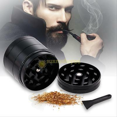 4 Layers Black Metal Tobacco Crusher Hand Muller Smoke Herbal Herb Grinder New