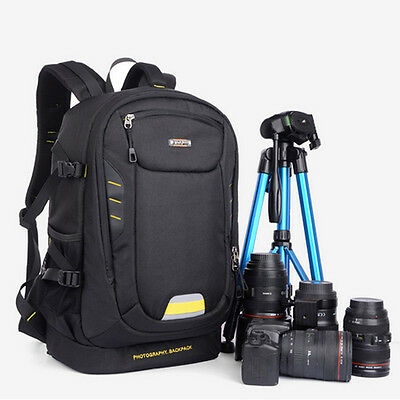 Luxury DSLR Camera Backpack Travel Bag Case For Canon EOS Nikon Pentax Sony